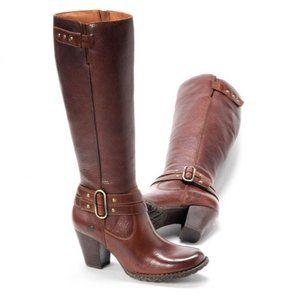 Born Taro Briar Tall Brown Leather Knee-High Boots